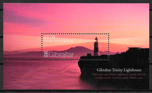 colección sellos faros Gibralltar 2007