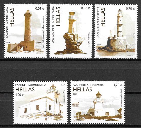 filatelia faros Grecia 2009
