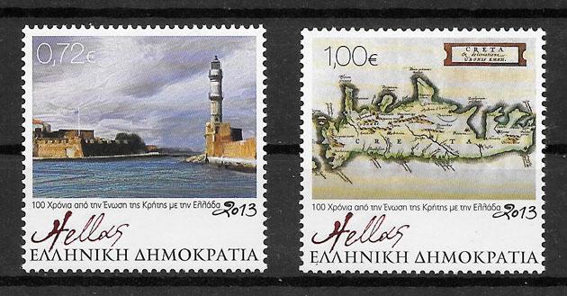 filatelia faros Grecia 2013