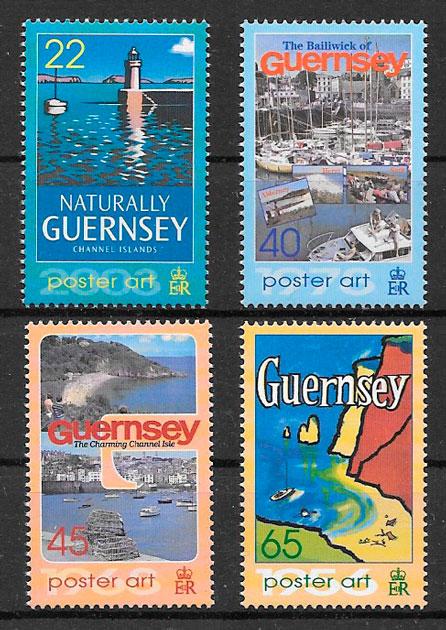 filatelia faros Guernsey 2003