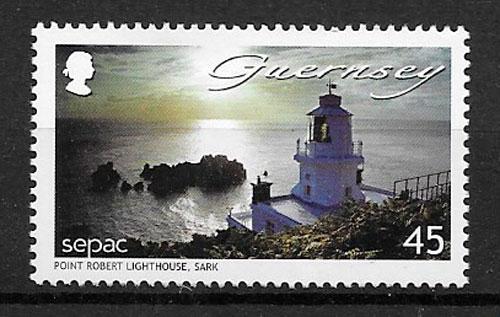 colección selos faros Guernsey 2007