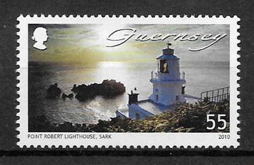 sellos faros Guernsey 2010