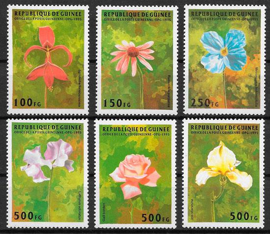 filatelia flora Guinea 1995