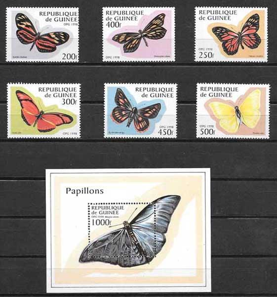 Sellos mariposas Guinea-1998-01