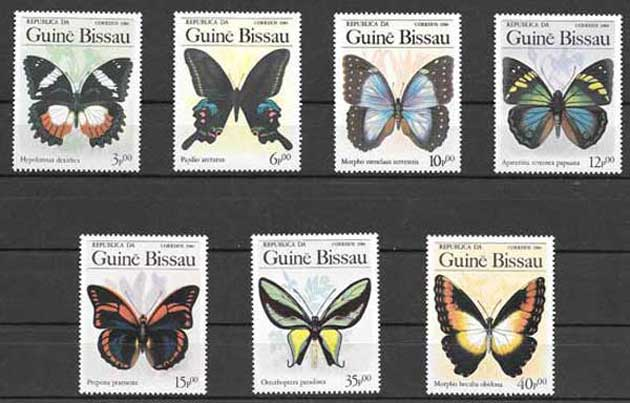 Sellos mariposas Guinea-Bissau-1984-01