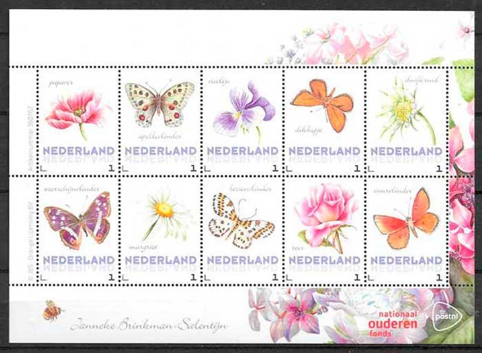 filatelia fauna y flora Holanda 2017
