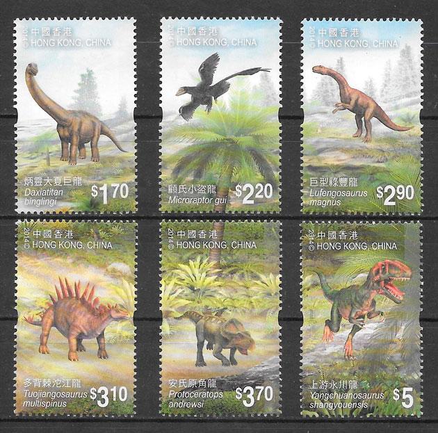 sellos dinosaurios Hong Kong 2014
