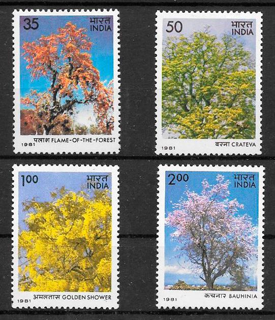 sellos flora India 1981