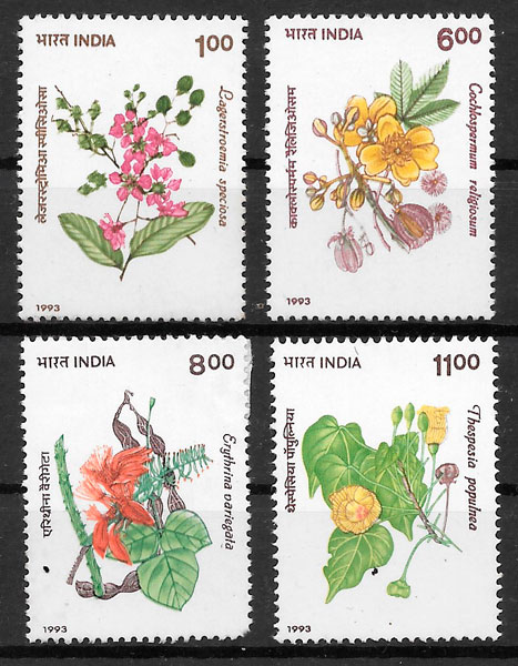 filatelia flora India 1993