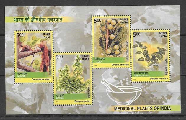 Sellos flora India 2003