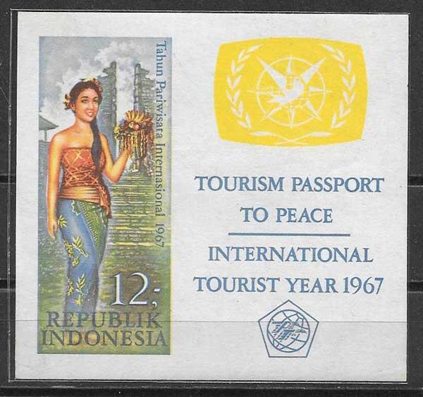 Estampillas turismo Indonesia 1967
