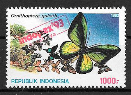 filatelia mariposas Indonesia 1993