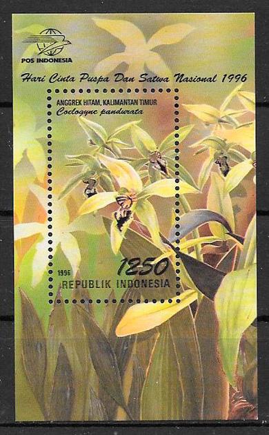 filatelia colección fauna y flora Indonesia 1996