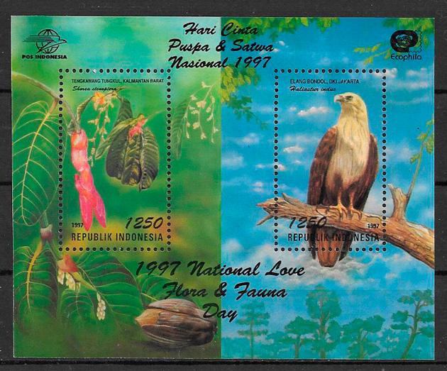 sellos fauna y flora Indonesia 1997