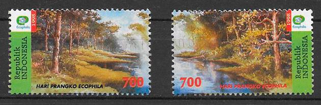 sellos flora Indonesia 1998