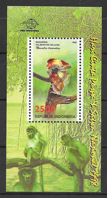 sellos fauna y flora Indonesia 1998