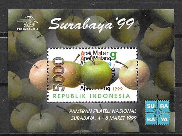 sellos flora Indonesia 1999