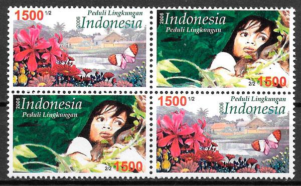 filatelia flora Indonesia 2006