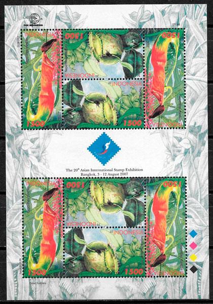 sellos flora Indonesia 2007