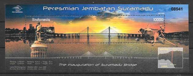 Sellos colección arquitectura Indonesia 2009