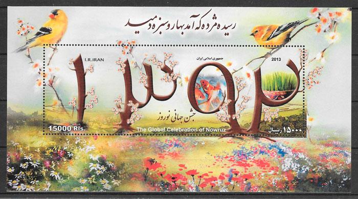 filatelia fauna y flora Irán 2013