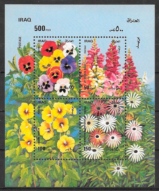 sellos flora Iraq 1989