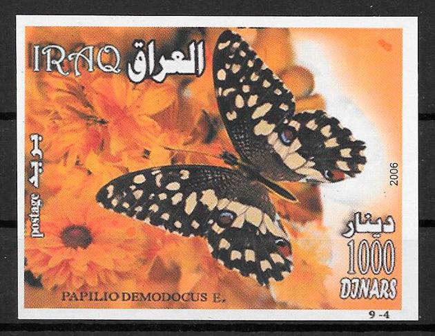 colección sellos mariposas Iraq 2006