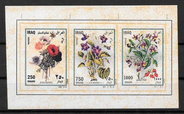 colección sellos flora Iraq 2007