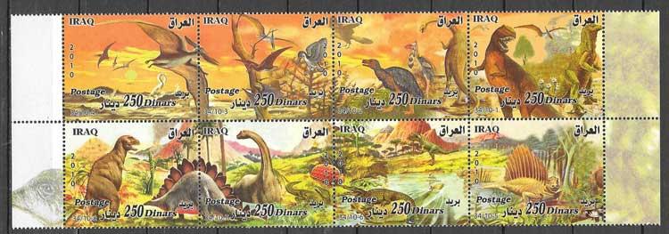 sellos colección fauna Iraq 2010