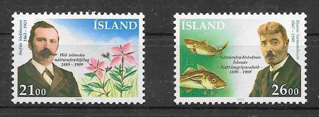 Sellos fauna y flora Islandia 1989