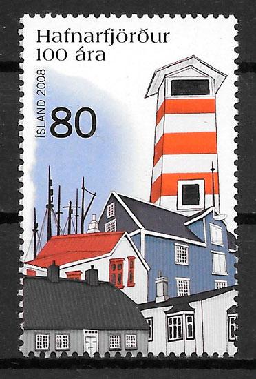 sellos faros Islandia 2008