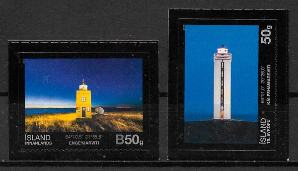coleción sellos faros Islandia 2012