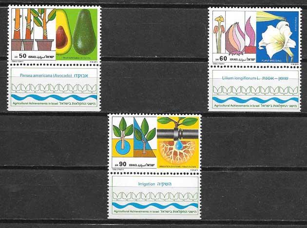 sellos flora Israel 1988