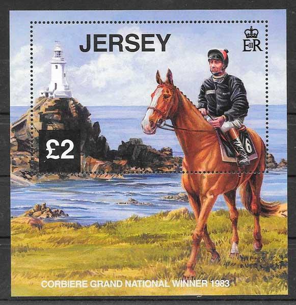 colección sellos faros Jersey 1983