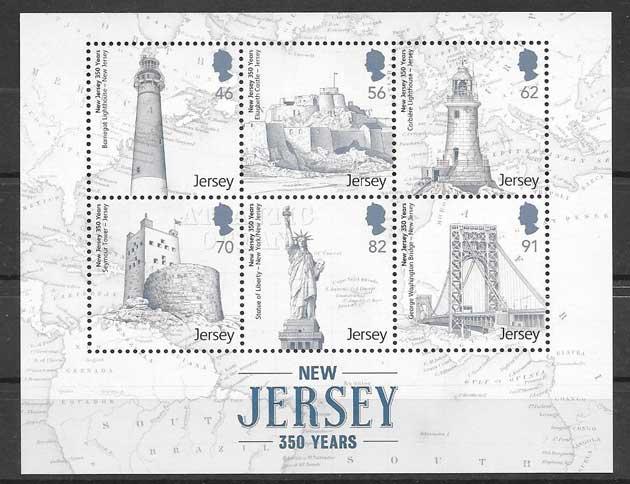 Colección sellos faros de pais