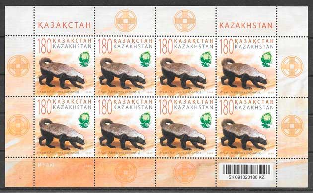 filatelia fauna y flora Kazastán 2009