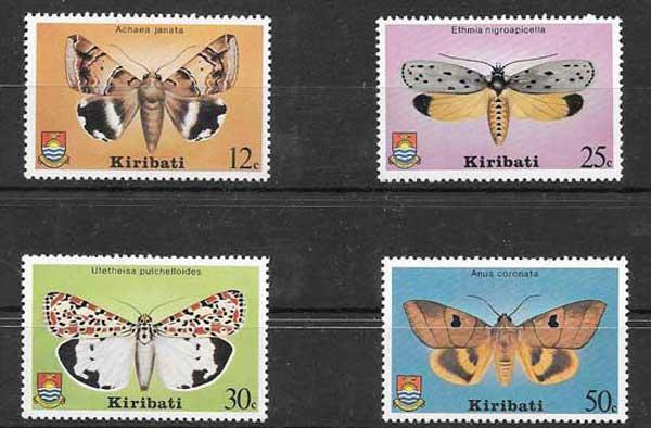 Filatelia sellos mariposas Kiribati 1980