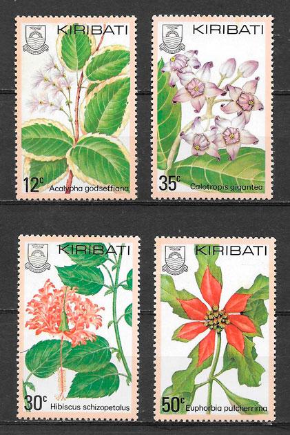 sellos flora Kiribati 1981
