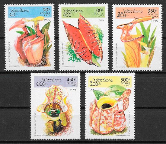 sellos flora Laos 1995