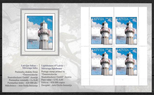 sellos faros Letonia 2006