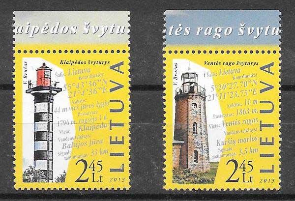 Filatelia Lituania faros 2013