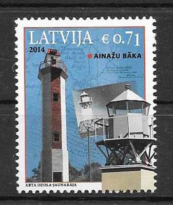 Estampillas Letonia-2014-01