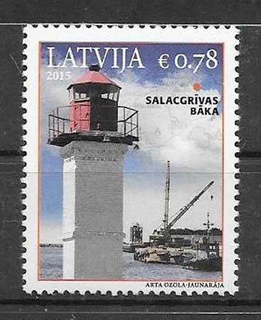 Sellos faros Letonia 2015