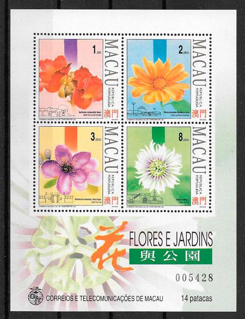 colección sellos Macao flora 1993