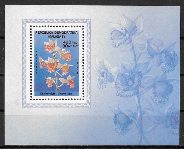 filatelia flora Madagascar 1984