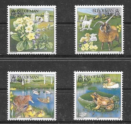 Sellos fauna y flora de la Isla 1997