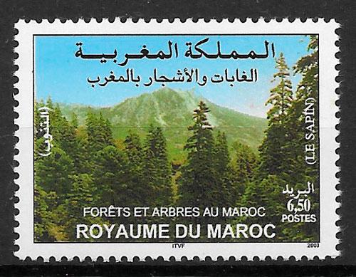 colección selos flora Marruecos 2003