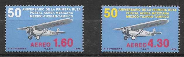 Filatelia transporte México 1978