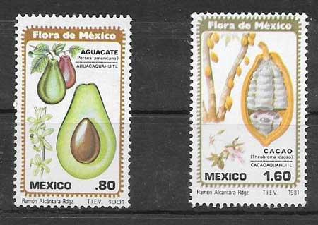 Filatelia flora México 1981