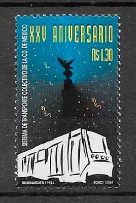 colección sellos transporte México 1994